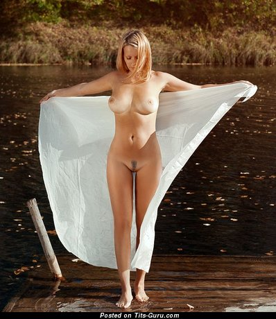 Nude nice lady with big natural boobies image