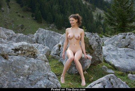 Image. Beautiful female with medium tits photo