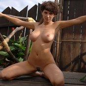 Brunette with medium boobs photo