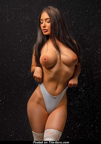 Alina Gorohova - Superb Topless & Painted Brunette Babe with Superb Exposed Natural Dd Size Boob (Hd Porn Pix)