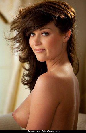 Marvelous Unclothed Playboy Brunette (Sex Wallpaper)