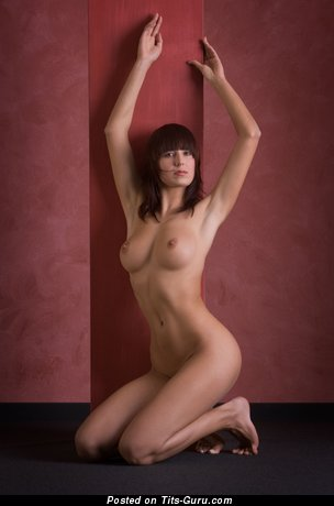 Image. Nude amazing woman with medium natural breast image