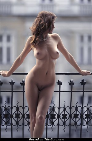 Image. Sexy nude amazing lady with medium natural boob image