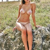 Hot lady with big natural breast picture