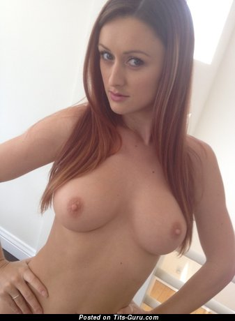 Image. Karlie Montana - sexy naked red hair with medium natural boob and big nipples photo