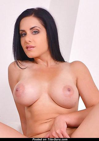 Alex Black - Cute Czech Brunette Babe & Pornstar with Cute Open Silicone Tit & Tan Lines (Hd Porn Photo)