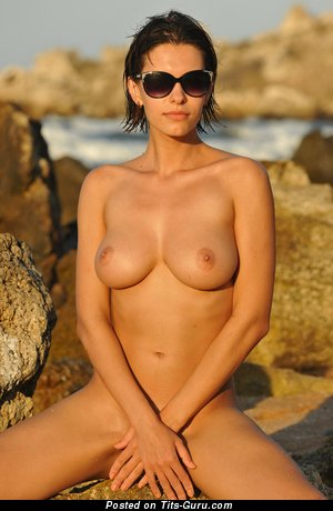 Image. Susi R - naked brunette with natural boob photo