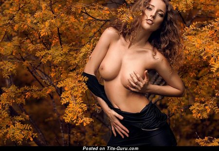 Image. Nude amazing female with natural boob pic