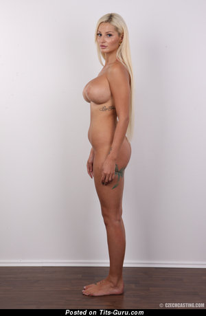 Naked hot female with fake boobies pic