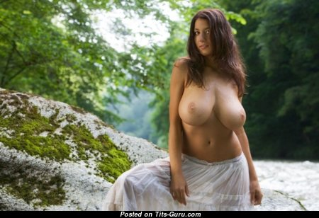 Charming Babe with Charming Nude Natural Boob & Huge Nipples (18+ Wallpaper)