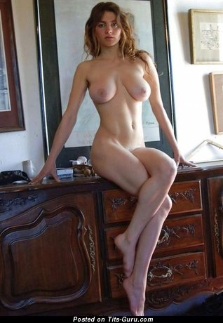 Image. Nude beautiful lady with natural tits image