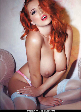 Image. Red hair with big tots picture