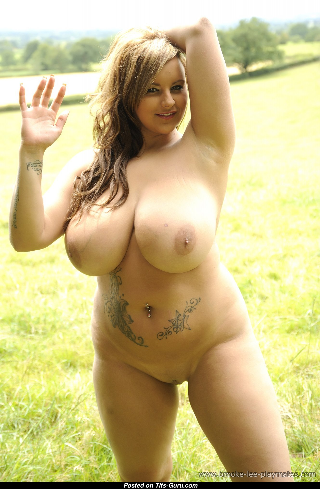 Terri Jane - Brunette Babe With Naked Natural Sizable -8262
