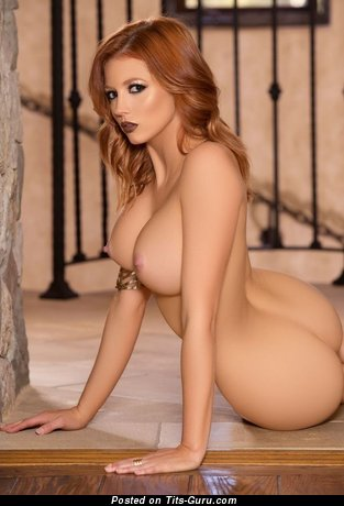 Chandler South - Appealing American Playboy Red Hair with Appealing Open Dd Size Boobys (Hd 18+ Wallpaper)