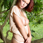 Renata Daninsky - red hair with big natural tittes image