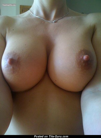 Charming Bimbo with Charming Open Real Mid Size Titties (Selfie 18+ Image)