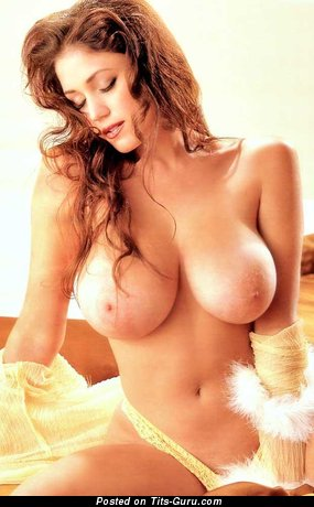 Miriam Gonzalez - Charming Puerto Rican, American Playboy Floozy with Charming Bald G Size Melons (Sexual Pic)