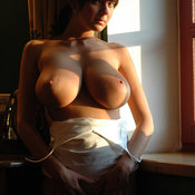 Awesome female with huge natural breast photo