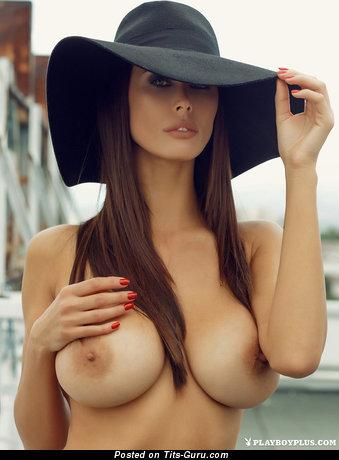 Bilyana Evgenieva - Delightful Topless Bulgarian Playboy Red Hair with Delightful Bald Medium Sized Tittes (18+ Photoshoot)