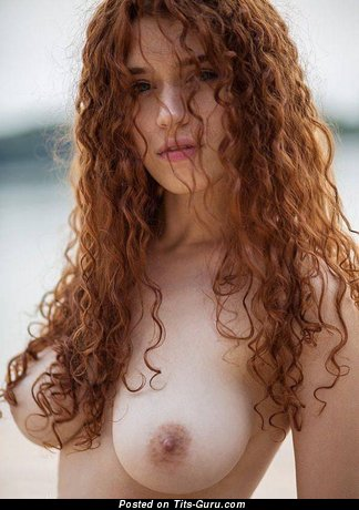 Elegant Red Hair with Elegant Exposed Natural Med Busts (18+ Pix)