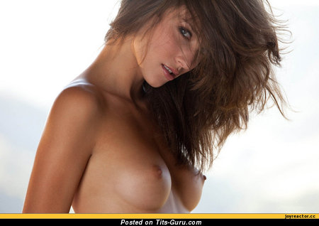 Image. Naked amazing girl with medium natural breast picture