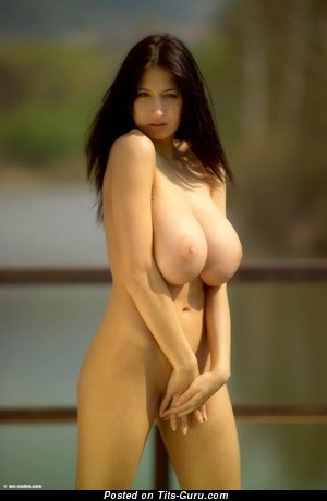 Image. Nude wonderful woman with natural boobs photo