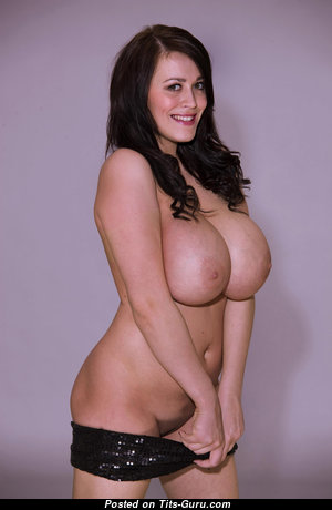 Leanne Crow - Graceful British Brunette Babe & Pornstar with Graceful Exposed Real Monumental Tit (Hd Porn Photoshoot)