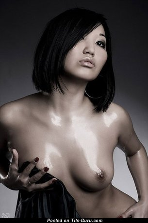 Awesome Asian Dish with Awesome Defenseless Natural C Size Boobys (Vintage Porn Photoshoot)