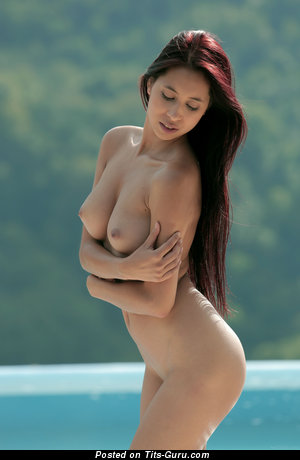 Image. Paula - nude red hair with medium boobs photo