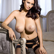 Sammy Braddy - brunette with huge boobs image