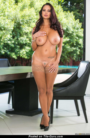 Ava Addams - Lovely Topless French, American Brunette Babe with Lovely Defenseless Silicone Normal Tittys (Porn Photoshoot)