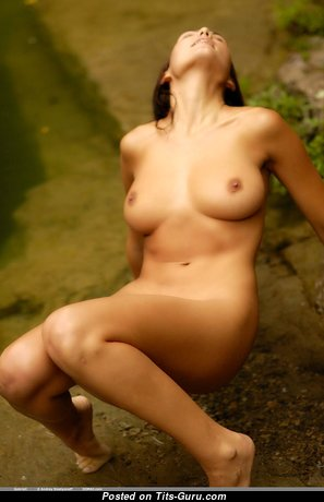 Gabriell - Delightful Glamour & Topless Brunette with Huge Nipples (Hd Sexual Picture)