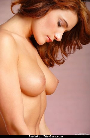 Image. Naked beautiful girl with medium natural tits photo