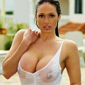 Wet hot woman with huge tittes picture