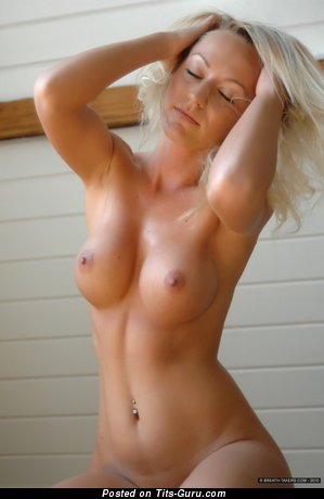 Ivana Breathtakers - Handsome Blonde with Handsome Exposed Mid Size Boob (Hd Porn Pic)