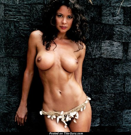 Brooke Burke - Good-Looking American Playboy Brunette with Good-Looking Bald Dd Size Boobie (Vintage Porn Pix)