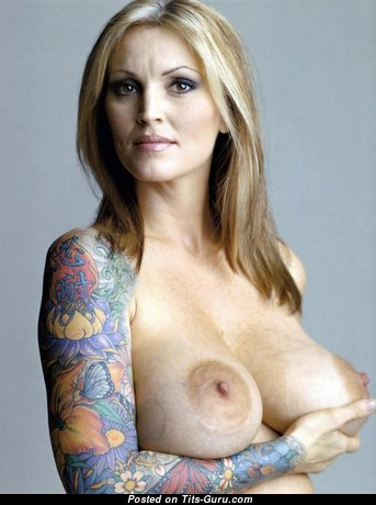 Janine Lindemulder - The Best Unclothed American Blonde Pornstar with Tattoo (Hd Sexual Wallpaper)
