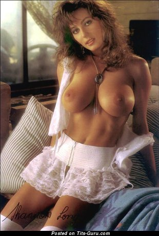 Shannon Long - Yummy Topless Australian Brunette Babe with Yummy Defenseless Natural Medium Tit & Puffy Nipples (Vintage Sexual Photo)
