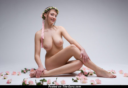 Image. Ashley Spring - sexy topless amazing woman with medium natural tits pic
