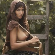 Brunette with big natural boobies and big nipples photo