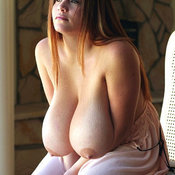 Hot woman with huge breast image