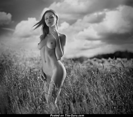 Image. Sexy nude beautiful lady with natural boobies picture