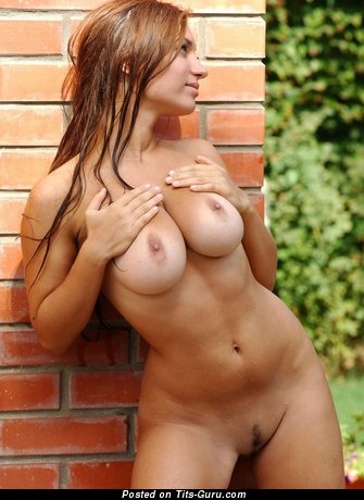 Image. Wonderful lady with big natural tits image