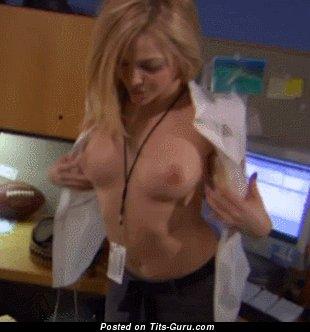 Alexis Texas - topless latina blonde with medium tits gif