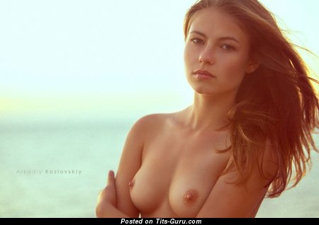 Image. Nude awesome girl with medium natural tittes photo