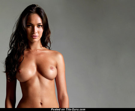 Megan Fox - Wonderful Topless American Brunette Actress with Wonderful Open Natural Dd Size Breasts, Piercing & Tattoo (Hd Sex Photoshoot)