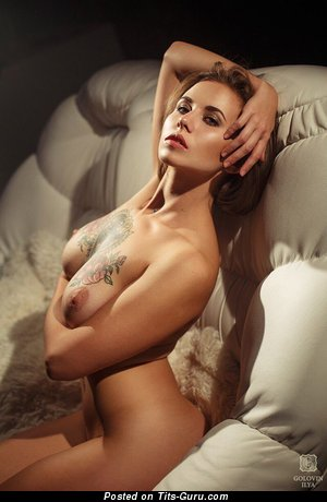 Image. Sexy naked awesome lady with tattoo photo