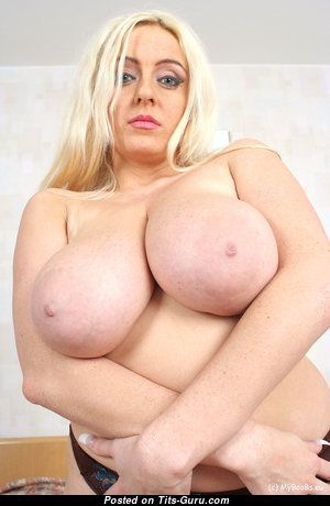Anabelle Mayaa - Amazing Topless Polish Blonde Babe & Girlfriend with Amazing Bald Natural Big Sized Tots & Red Nipples (Home Hd Porn Pic)