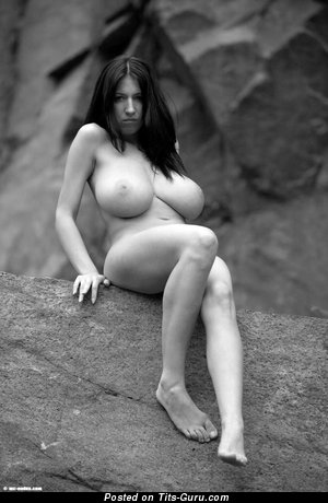 Image. Naked awesome lady with huge natural breast pic