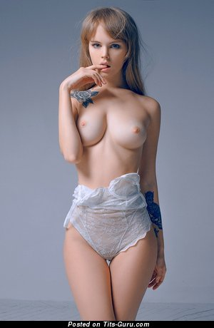 Charming Lassie with Charming Bare Natural Dd Size Tittes (Xxx Photoshoot)